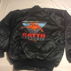 Other - Vintage Gatto Electric Satin Bomber XL